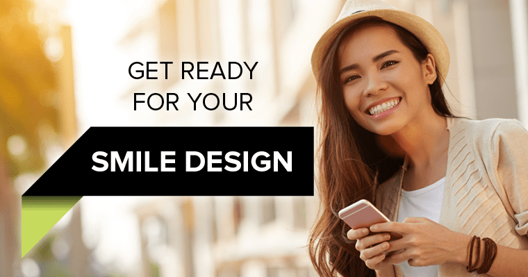 Woman who is happy to show off her smile because of smile design.